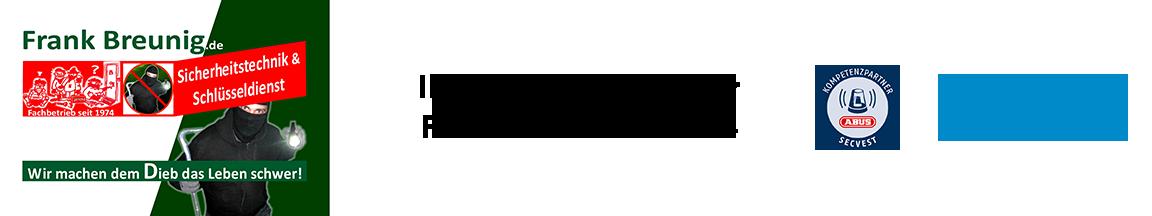 Frank Breunig – Ihr Fachbetrieb für Sicherheitstechnik seit 1974 Logo